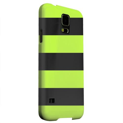 Geeks Designer Line (GDL) Samsung Galaxy S5 Matte Hard Back Cover - Colorway Black/ Flo Green