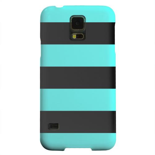 Geeks Designer Line (GDL) Samsung Galaxy S5 Matte Hard Back Cover - Colorway Black/ Teal