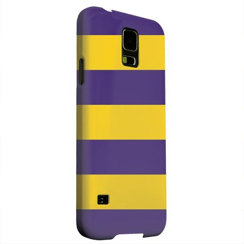 Geeks Designer Line (GDL) Samsung Galaxy S5 Matte Hard Back Cover - Colorway Purple/ Gold