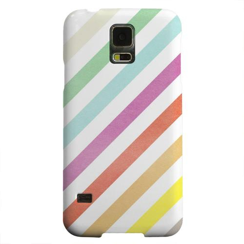 Geeks Designer Line (GDL) Samsung Galaxy S5 Matte Hard Back Cover - Dirty Diagonal Multi-Color