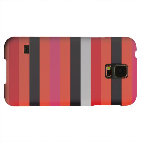Geeks Designer Line (GDL) Samsung Galaxy S5 Matte Hard Back Cover - Muted Spade Stripes