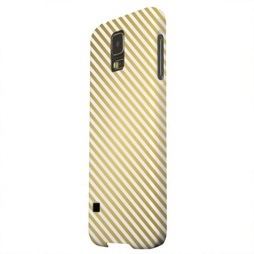 Geeks Designer Line (GDL) Samsung Galaxy S5 Matte Hard Back Cover - Thin Golden Diagonal