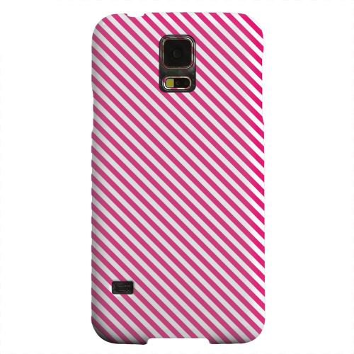 Geeks Designer Line (GDL) Samsung Galaxy S5 Matte Hard Back Cover - Thin Hot Pink Diagonal