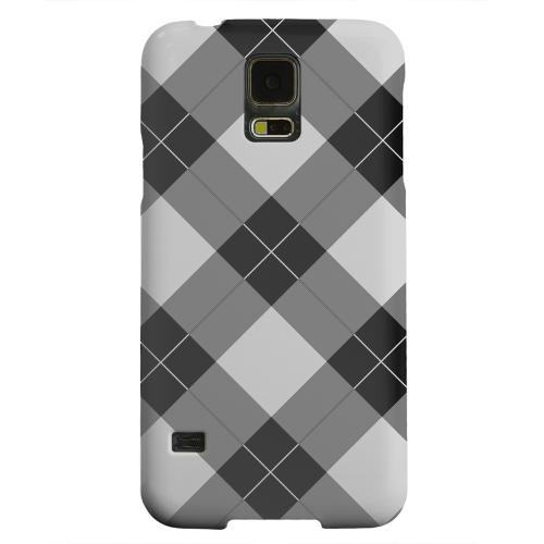 Geeks Designer Line (GDL) Samsung Galaxy S5 Matte Hard Back Cover - Black/ White/ Gray Plaid