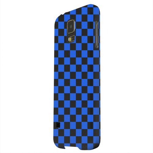 Geeks Designer Line (GDL) Samsung Galaxy S5 Matte Hard Back Cover - Blue/ Black