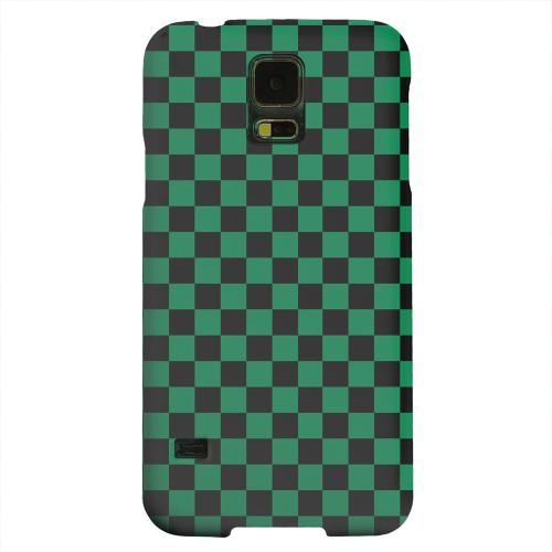 Geeks Designer Line (GDL) Samsung Galaxy S5 Matte Hard Back Cover - Green/ Black