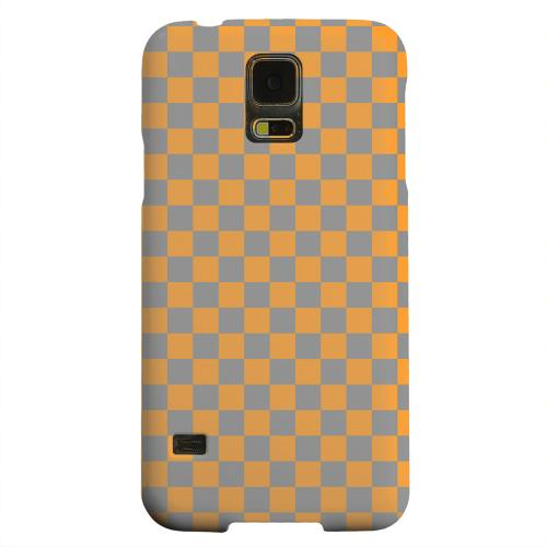 Geeks Designer Line (GDL) Samsung Galaxy S5 Matte Hard Back Cover - Orange/ Gray