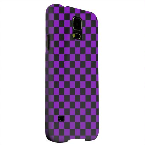 Geeks Designer Line (GDL) Samsung Galaxy S5 Matte Hard Back Cover - Purple/ Black