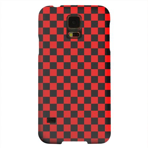 Geeks Designer Line (GDL) Samsung Galaxy S5 Matte Hard Back Cover - Red/ Black