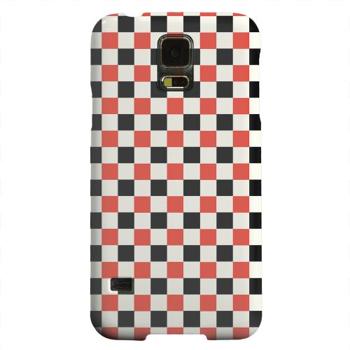 Geeks Designer Line (GDL) Samsung Galaxy S5 Matte Hard Back Cover - Red/ Black on Cream