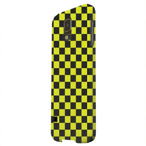 Geeks Designer Line (GDL) Samsung Galaxy S5 Matte Hard Back Cover - Yellow/ Black