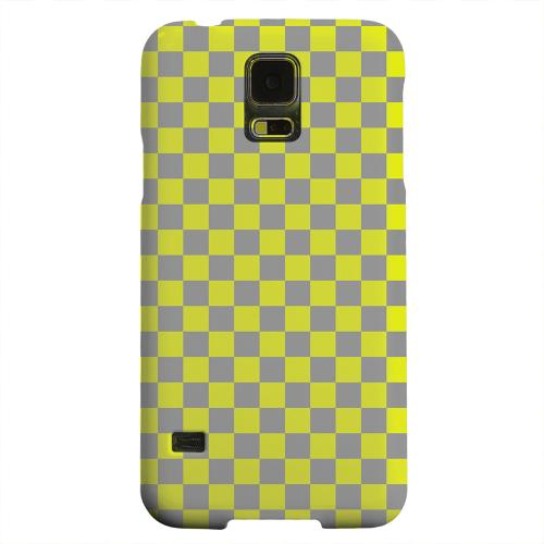 Geeks Designer Line (GDL) Samsung Galaxy S5 Matte Hard Back Cover - Yellow/ Gray
