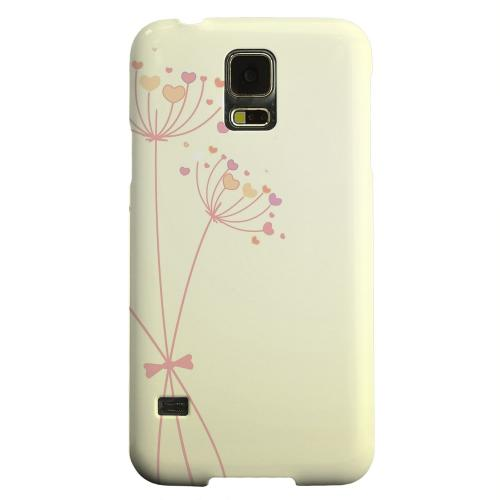 Geeks Designer Line (GDL) Samsung Galaxy S5 Matte Hard Back Cover - Dandelion Hearts on Yellow
