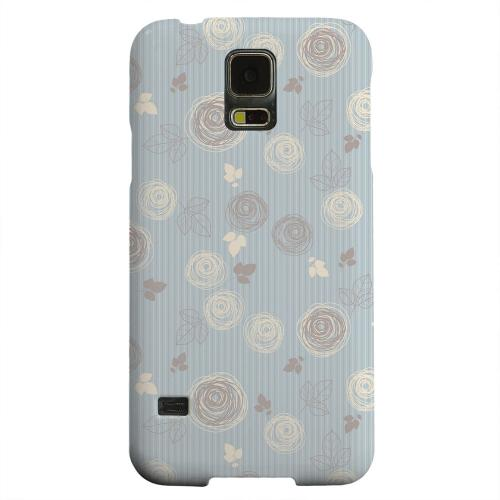 Geeks Designer Line (GDL) Samsung Galaxy S5 Matte Hard Back Cover - Leaves Scribble Blue/ Brown