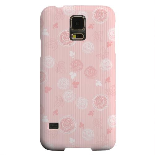 Geeks Designer Line (GDL) Samsung Galaxy S5 Matte Hard Back Cover - Leaves Scribble Pinkish