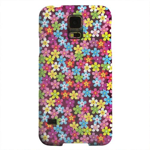 Geeks Designer Line (GDL) Samsung Galaxy S5 Matte Hard Back Cover - Multi-Colored Flowers