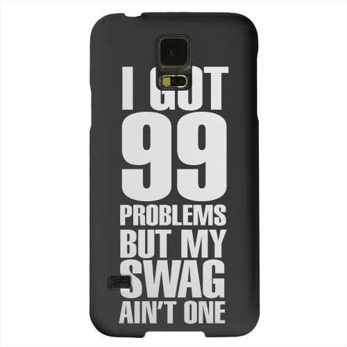 Geeks Designer Line (GDL) Samsung Galaxy S5 Matte Hard Back Cover - 99 Problems on Black