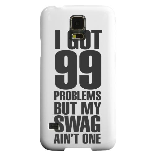 Geeks Designer Line (GDL) Samsung Galaxy S5 Matte Hard Back Cover - 99 Problems on White