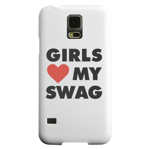 Geeks Designer Line (GDL) Samsung Galaxy S5 Matte Hard Back Cover - Girls Love My Swag