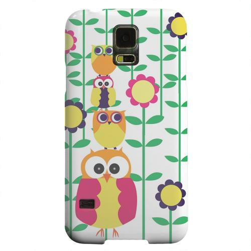 Geeks Designer Line (GDL) Samsung Galaxy S5 Matte Hard Back Cover - Colorful Owl Tower