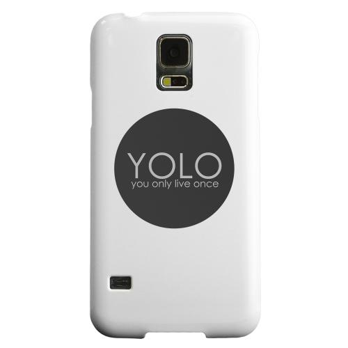 Geeks Designer Line (GDL) Samsung Galaxy S5 Matte Hard Back Cover - YOLO Circle