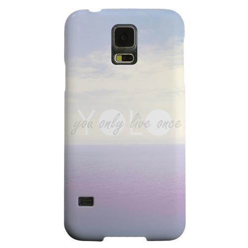Geeks Designer Line (GDL) Samsung Galaxy S5 Matte Hard Back Cover - Filled YOLO
