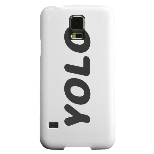 Geeks Designer Line (GDL) Samsung Galaxy S5 Matte Hard Back Cover - Rounded YOLO
