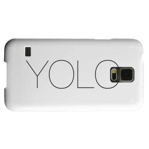 Geeks Designer Line (GDL) Samsung Galaxy S5 Matte Hard Back Cover - Thin YOLO