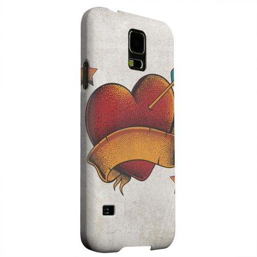 Geeks Designer Line (GDL) Samsung Galaxy S5 Matte Hard Back Cover - Arrow In The Heart