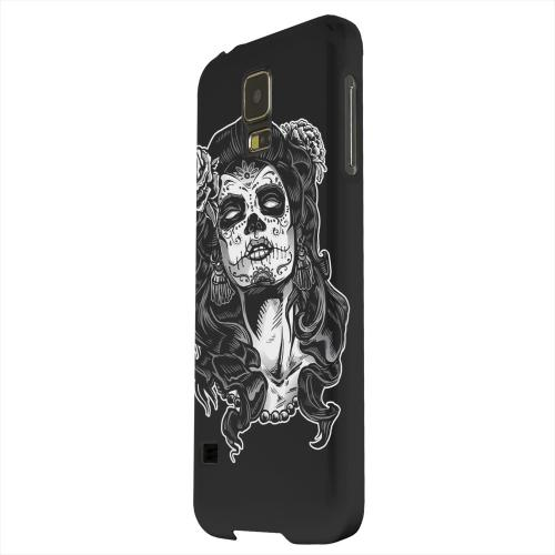 Geeks Designer Line (GDL) Samsung Galaxy S5 Matte Hard Back Cover - Day of the Dead Girl on Black