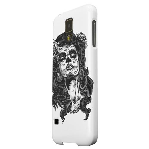 Geeks Designer Line (GDL) Samsung Galaxy S5 Matte Hard Back Cover - Day of the Dead Girl on White