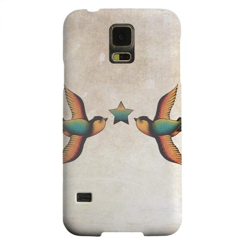 Geeks Designer Line (GDL) Samsung Galaxy S5 Matte Hard Back Cover - Dual Swallow Star