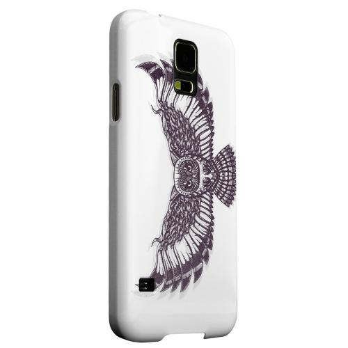 Geeks Designer Line (GDL) Samsung Galaxy S5 Matte Hard Back Cover - Flying Owl on White