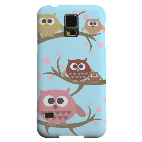 Geeks Designer Line (GDL) Samsung Galaxy S5 Matte Hard Back Cover - Round Owl Hangout