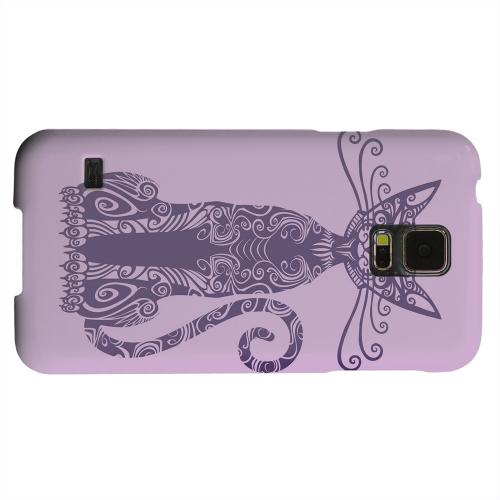 Geeks Designer Line (GDL) Samsung Galaxy S5 Matte Hard Back Cover - Kitty Nouveau on Purple
