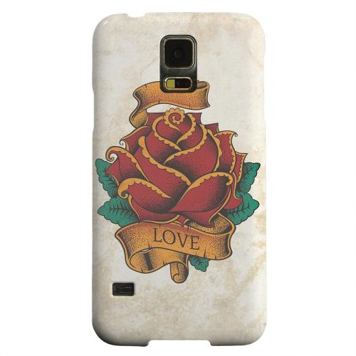 Geeks Designer Line (GDL) Samsung Galaxy S5 Matte Hard Back Cover - Love Rose