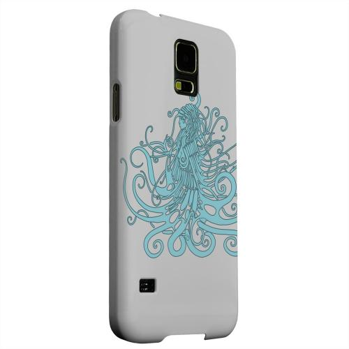 Geeks Designer Line (GDL) Samsung Galaxy S5 Matte Hard Back Cover - Aqua Medusa on White