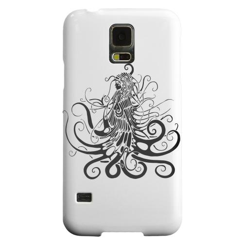 Geeks Designer Line (GDL) Samsung Galaxy S5 Matte Hard Back Cover - Black Medua on White