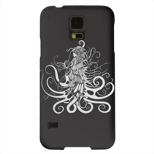 Geeks Designer Line (GDL) Samsung Galaxy S5 Matte Hard Back Cover - White Medusa on Black