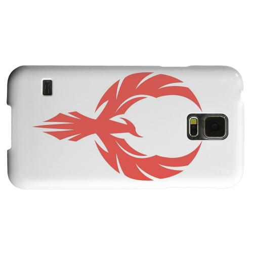 Geeks Designer Line (GDL) Samsung Galaxy S5 Matte Hard Back Cover - Phoenix Red on White
