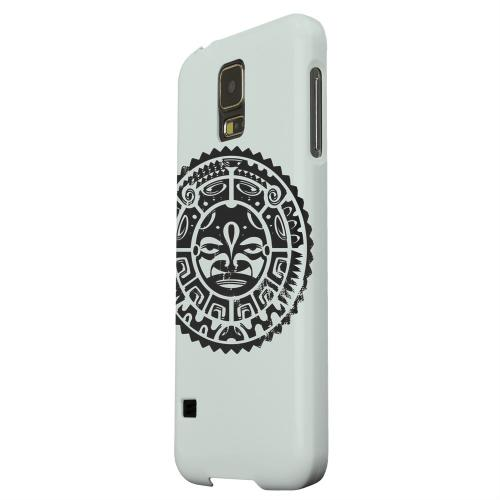 Geeks Designer Line (GDL) Samsung Galaxy S5 Matte Hard Back Cover - Polynesian Face on Gray