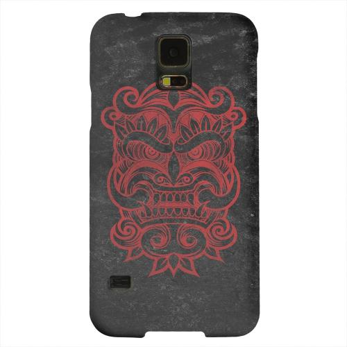 Geeks Designer Line (GDL) Samsung Galaxy S5 Matte Hard Back Cover - Red Devil Mask