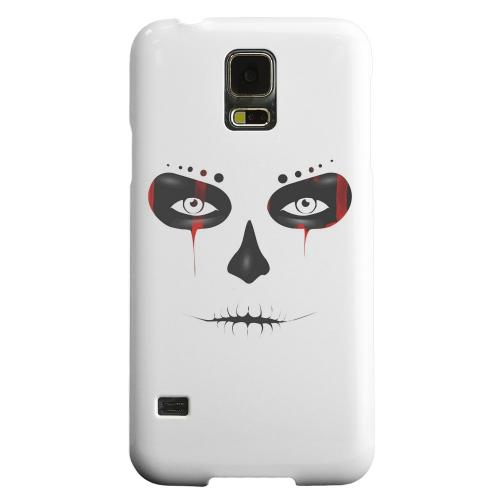 Geeks Designer Line (GDL) Samsung Galaxy S5 Matte Hard Back Cover - Skull Face Blood