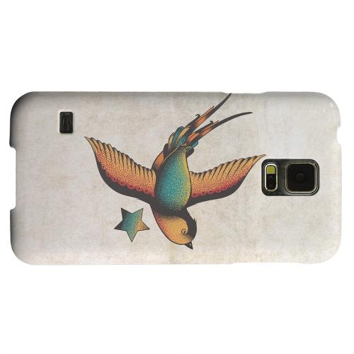 Geeks Designer Line (GDL) Samsung Galaxy S5 Matte Hard Back Cover - Swallow Star