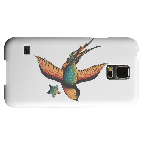 Geeks Designer Line (GDL) Samsung Galaxy S5 Matte Hard Back Cover - Swallow Star on White