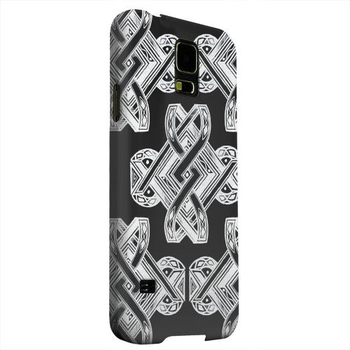 Geeks Designer Line (GDL) Samsung Galaxy S5 Matte Hard Back Cover - Tribal Art on Black