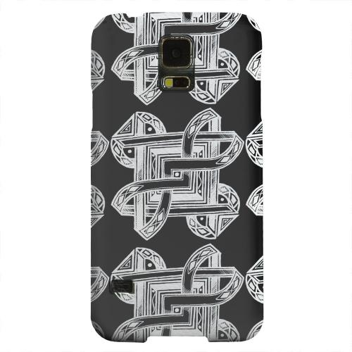 Geeks Designer Line (GDL) Samsung Galaxy S5 Matte Hard Back Cover - Tribal Art Pattern on Black
