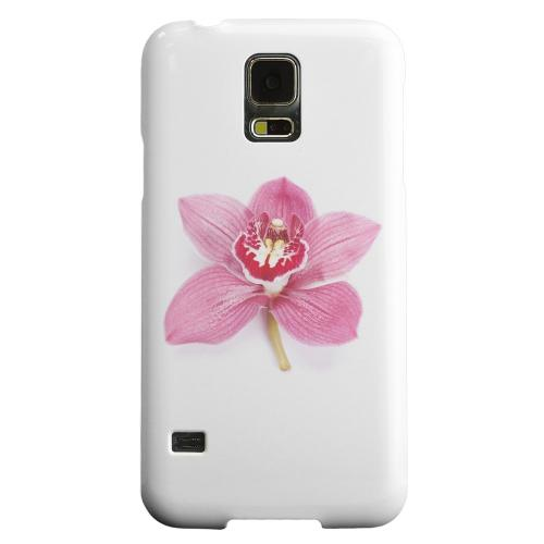 Geeks Designer Line (GDL) Samsung Galaxy S5 Matte Hard Back Cover - Single Pink Orchid Flower