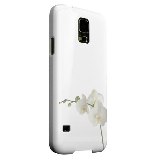 Geeks Designer Line (GDL) Samsung Galaxy S5 Matte Hard Back Cover - Simple White Orchid