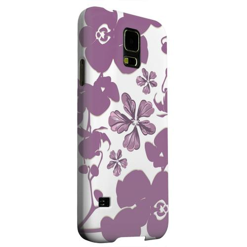 Geeks Designer Line (GDL) Samsung Galaxy S5 Matte Hard Back Cover - Purple Orchids